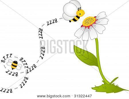 Bee Bzzz Flower