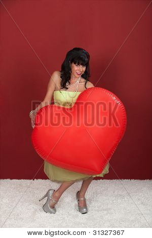 Woman With Huge Balloon
