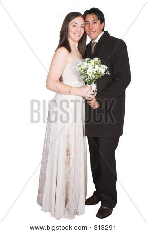Bride And Groom - Isolated