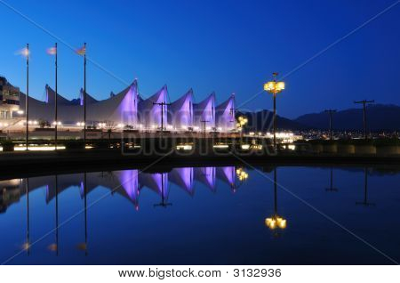 The Roof Of Canada Place At Night, Vancouver
