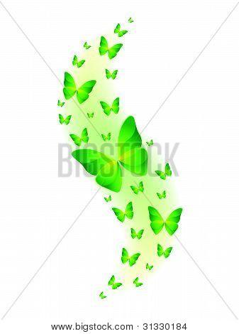 Vector Shiny Butterflies