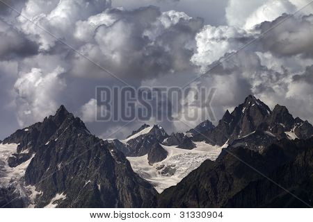 Cloudy Mountains. Caucasus Mountains.