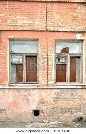 Fenster verfallenen der alten Gebäude