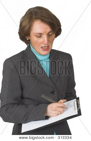 Business Woman Taking Notes 2
