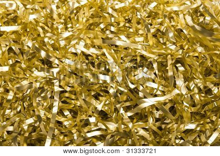 Golden Shredded Foil Background