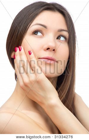 Beauty Female With An Elegant Beautiful Fingernails Manicure