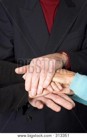 Business gespann Hände closeup