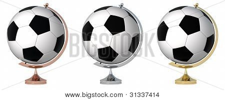 Abstract Soccer Globe