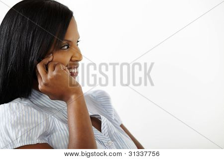 Pretty Young Woman On Mobile Phone