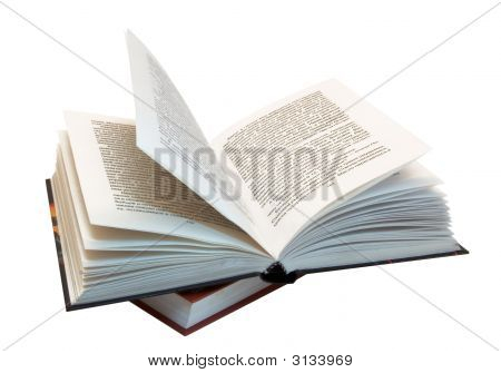 The Opened Book Atop Of Other Book