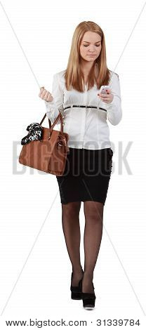 Young Woman With Mobile