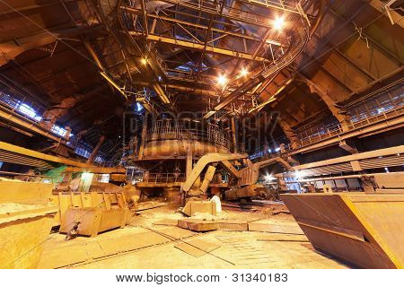 Panorama of blast furnace workshop