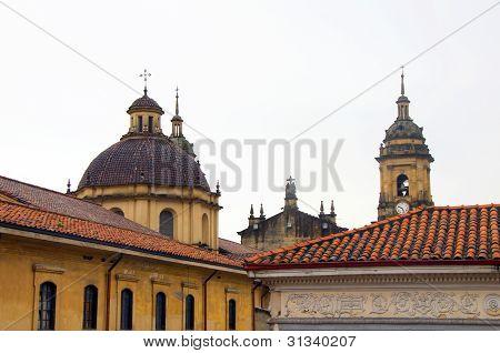 Architecture Historic District Rooftops Church La Candelaria Bogota Colombia