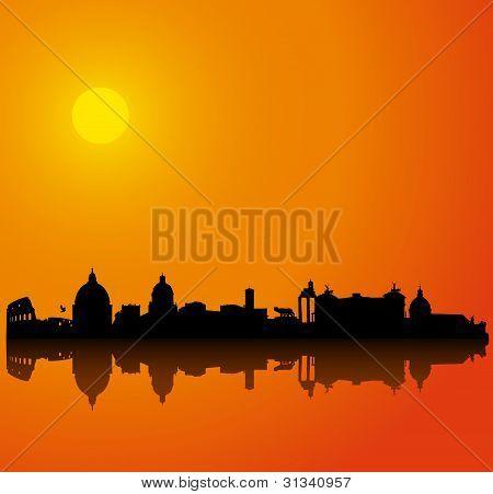 Rome silhouette skyline