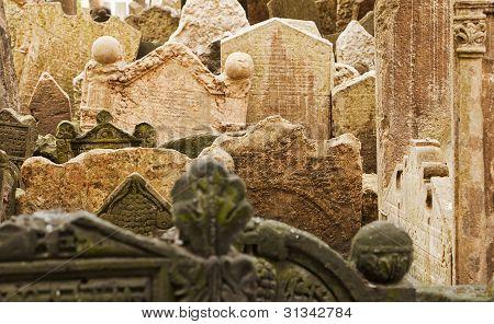 Jewish Gravestones In Prague