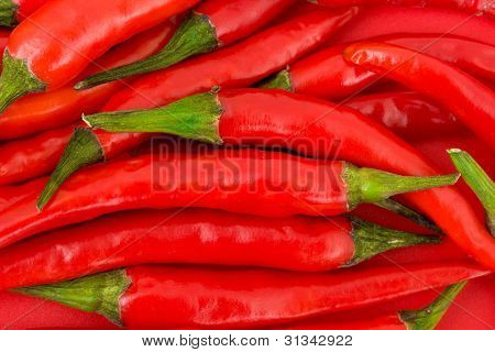 Red hot Chili Pepper-Hintergrund