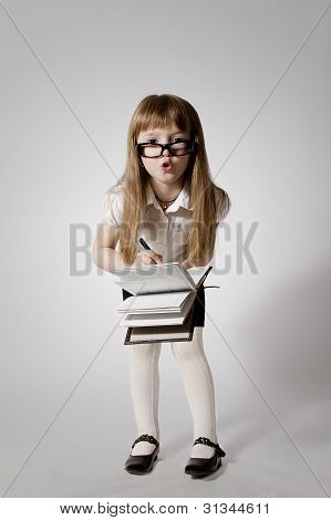 Girl Wearing Glasses 3