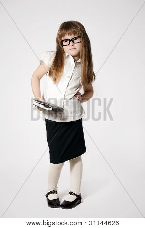 Little Girl Waering Glasses