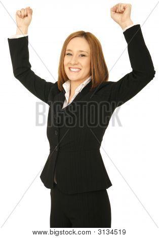 Business Woman Win
