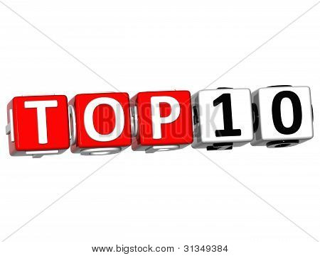 Ranking Top 10 Cube 3D-Text