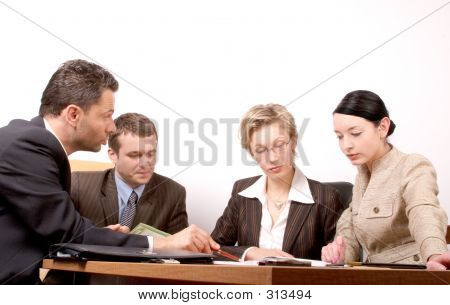 Business-Meeting 4 Personen Teil 2