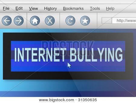 Internet intimidación.