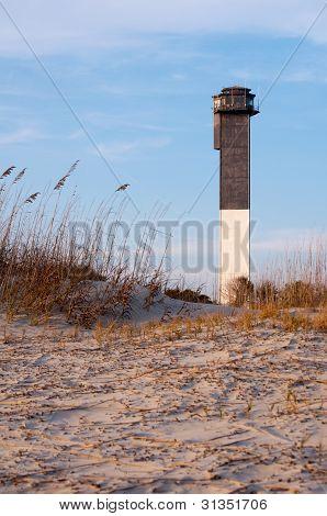 Sullvan's Island Lighthouse At Sunset