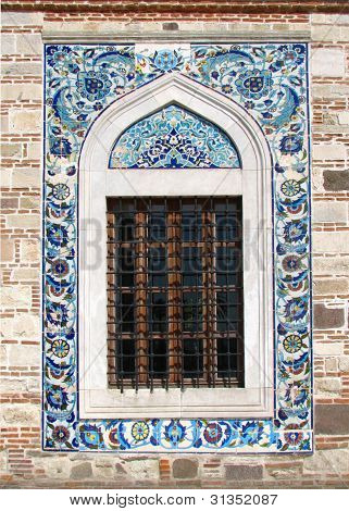 Window of the Konak Camii Mosque