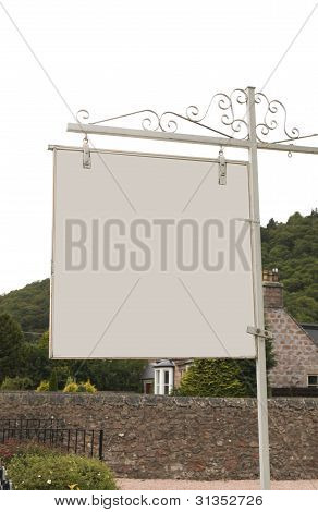 Blank Sign Outdoors