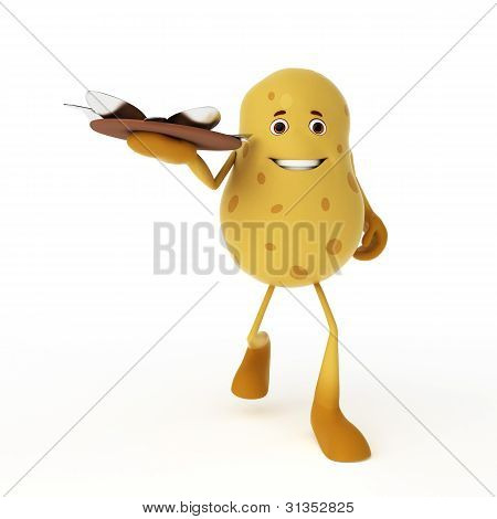 food character - potato