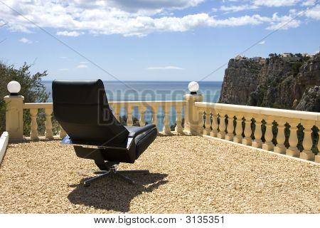 Cadeira de negócios, local de férias