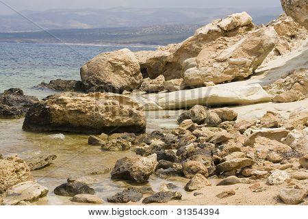 Rocky coast on Cyprus