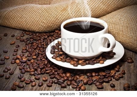 Cup Of Coffee Coffee Beans