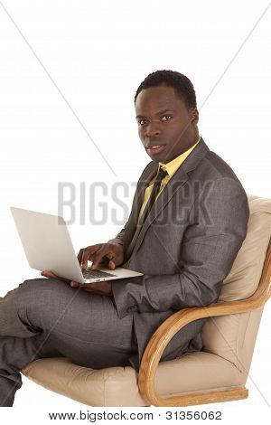 Businessman Working Laptop