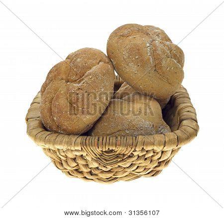 Basket Bulkie Wheat Rolls