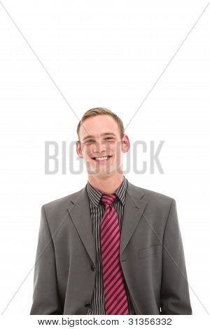 Smiling Young Man In Suit