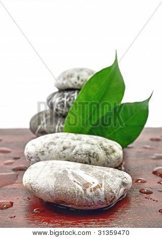 Stones Spa Zen With Water Drops Harmony