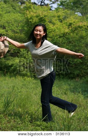 Happy Asian Girl