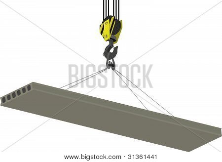 Crane Hook and hollow plate of overlapping