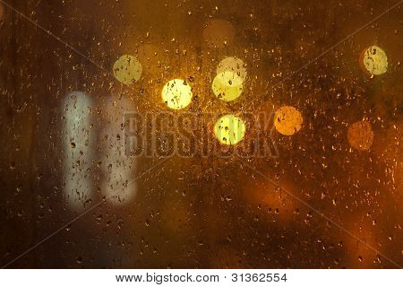 Rainy City Window