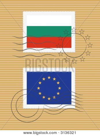 Bulgaria And Eu - Stamps With Flag