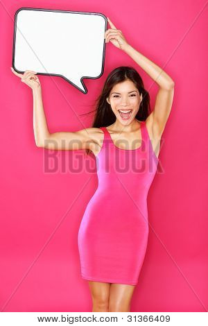 Woman Showing Sign