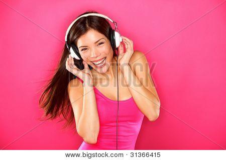 Headphones Music Woman Dancing