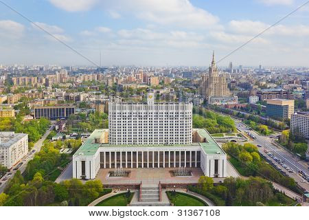 Building Of Russian Government In Moscow