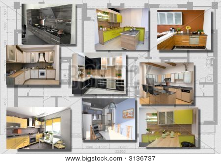 Modern Kitchen Interior Image Set