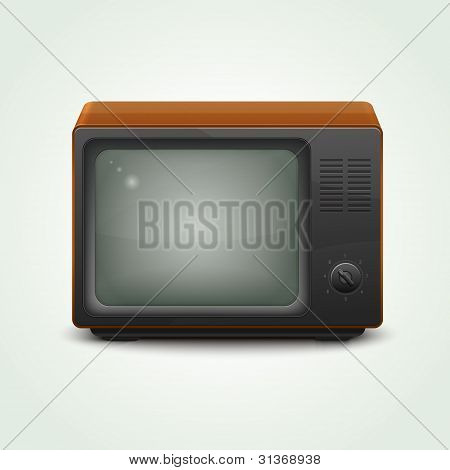 Retro realistic tv set