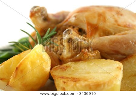 Chicken And Baked Potatoes