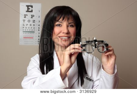 Eye Doctor With Trial Frames