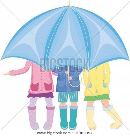 strands under the umbrella