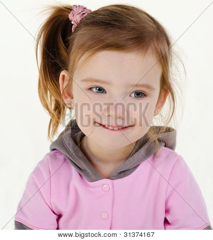 Portrait Of Cute Smiling Little Girl